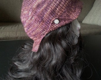 OOAK Handmade Merino Jazz Flapper 20s Cloche Hat