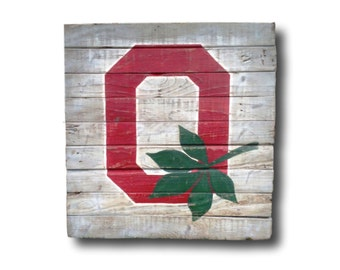 Ohio State Sign- Block O Sign- Graduation Gift- Dorm Decor- Housewarming Gift- Buckeye Wall Art- Man Cave Decor