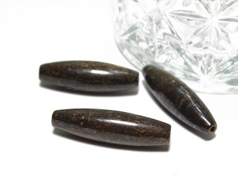 Genuine Bronzite Long Tapers Tube Beads Approx. 10x35mm 3pcs