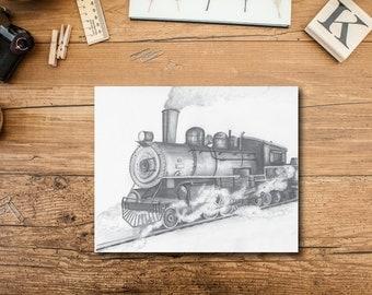 Train Nursery Decor - Train Art Print
