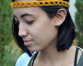 Skinny Crochet Headband Hair Band Accessories Open Stitch