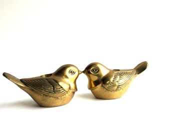 VIntage Pair of Brass Bird Candle holders