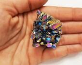 Titanium Rainbow Druzy, Crystal Quartz Cluster, Rainbow Druzy Specimen, Stones, Rocks, Minerals, Large Crystal Cluster, Colorful Rocks