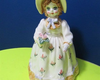 """Vintage  Lefton Musical """"Laura"""" Japan Figurine Collectible Collector Girl Lady 1983 #03246"""