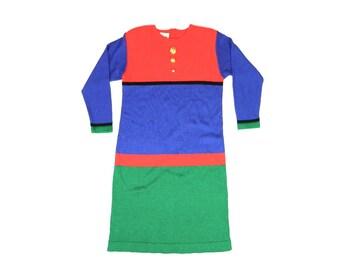 Vintage Color Block Dress...