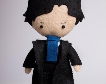 Sherlock Holmes poseable plush from Sherlock - handmade doll