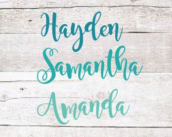 Fancy Name Decal | Fancy Cursive Name Decal | Swirly Name Decal | Yeti Decal