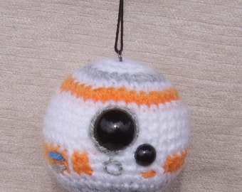 BB8 inspired crochet Baubles, for Star Wars fans! The Force Awakens!