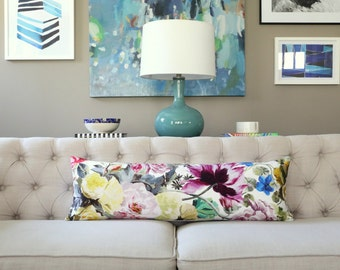 Designers Guild Orangerie Rose lumbar pillow cover - 1 SIDED OR 2 SIDED - Choose Your Size