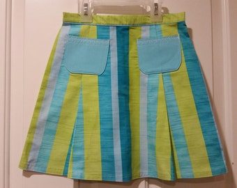 Pockets!  Box Pleat Skirt with pocket detail