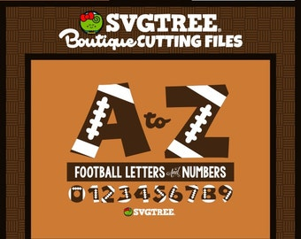 Football SVG Digital Alphabet Football Letters SVG Commercial Free Cricut Files Silhouette Files Digital Cut Files Cut File Bundle