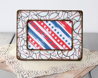 Baseball Picture Frame | Rustic | All American | Sports Frame