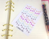 Cute Pastel Banner Planner Stickers; Pretty Stickers; Erin Condren; Filofaxing; Decorative Stickers; Multicoloured Stickers; Kawaii; Weekend