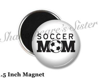 Soccer Mom - Fridge Magnet - Soccer Magnet - 1.5 Inch Magnet - Kitchen Magnet