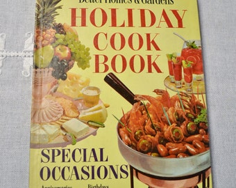 Vintage Better Homes and Gardens Holiday ( and Special Occasions) Cook Book - 1959