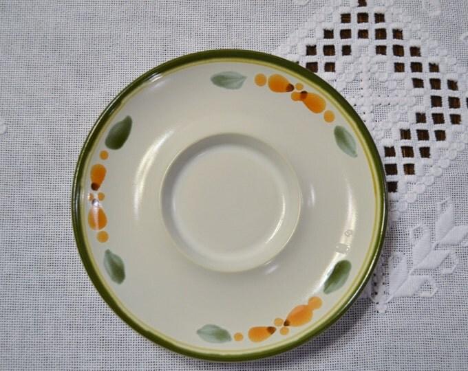 Vintage Noritake Bliss Saucer Stoneware 8574 Green Orange Design Replacement Japan PanchosPorch