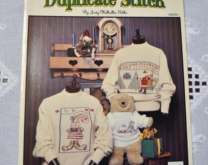 Duplicate Stitch Leaflet Hollie Designs Judy Gibbs Cross Stitch Charts Instructions Directions  PanchosPorch