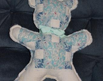 105 year old quilt Teddy Bear