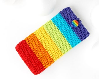 LG G6 phone cozy, Double Rainbow Pixel XL case, OPPO F3+ cover, iPhone 7+ pouch, vegan Samsung S8+ cover, Blackberry Aurora sock, Moto Z bag