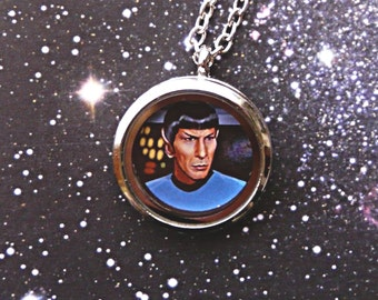 Spock necklace, Star Trek necklace, Star Trek Jewelry, Nimoy - original illustration Poison B., geek gift, sci fi jewelry, star trek gift,