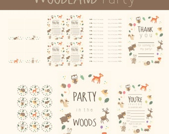 Printable Party Set - Woodland