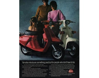 Vintage magazine ad for a Yamaha Riva motorcycles and Benson & Hedges  - 5