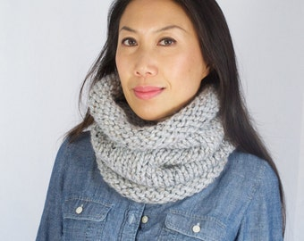 Chunky Knit Cowl || Slouchy Knit Neckwarmer + You Choose the Colors
