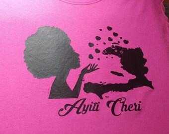 Ayiti cheri haitian girl shirt
