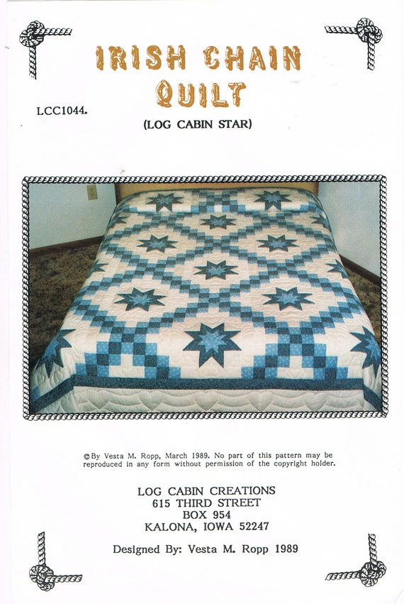 QUILT PATTERN Irish Chain Wall Hanging Quilt or Twin Size