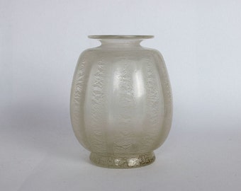 Sonoor craquelé glass vase - A.D. Copier - Glasfabriek Leerdam