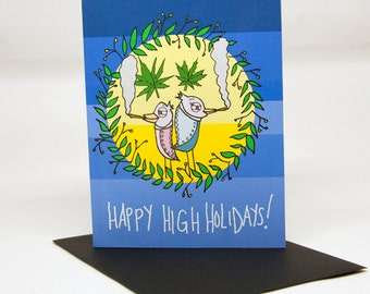 Happy High Holidays Greeting Card
