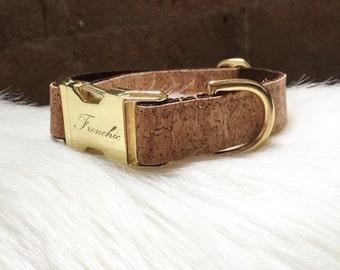 """Adjustable dog collar """"sparkle cork"""""""