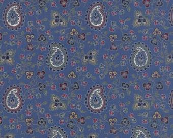 Paisley Lorraine Fabric - American Jane - Moda Fabric 21682 14 Blue - 1/2 yard