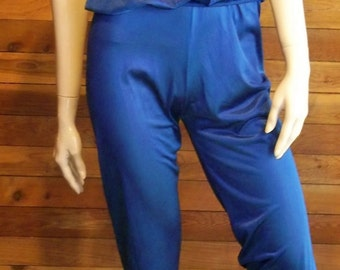 Vintage Lingerie 1970s SEARS Navy Blue Size XS Pajamas