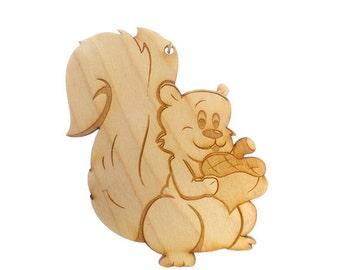 Squirrel ornament  Etsy