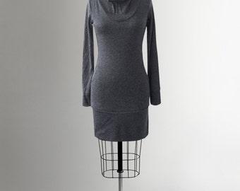 Dress - Sweater - Women - Long sleeves - Comfortable - Jersey - Pockets - High collar neck - Caroline grey