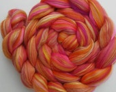 Merino-Silk Wool Roving / Combed Top / Wool  in Libra - 4 ounces