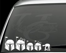 Boba Fett family vinyl decal window sticker