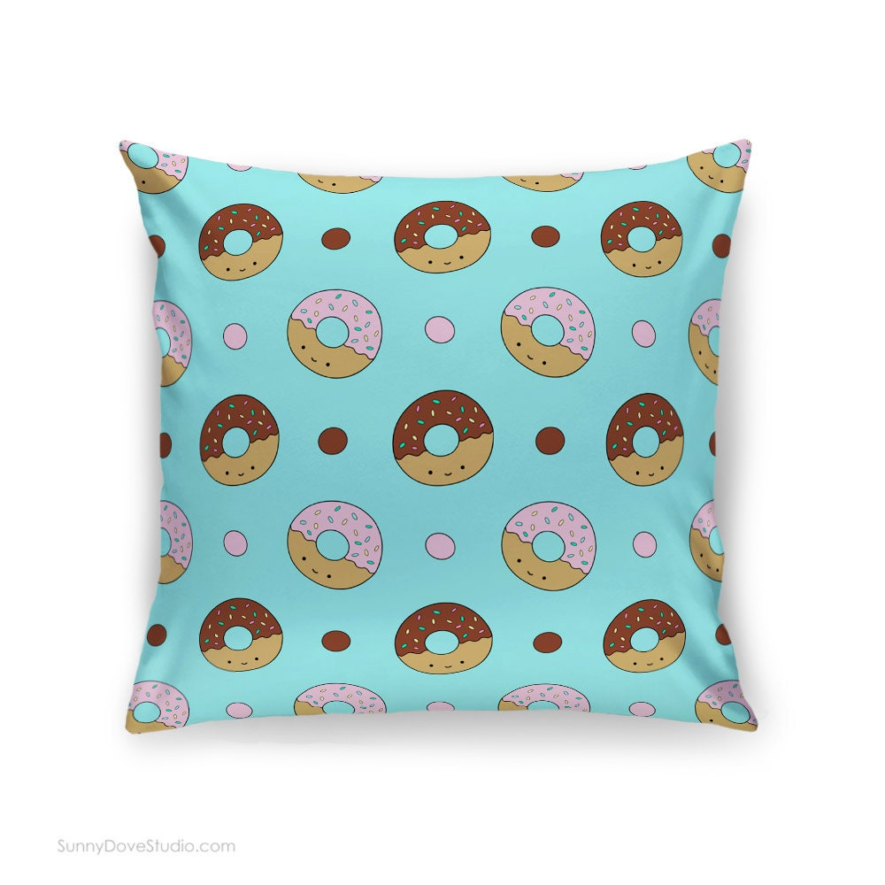 How To Make Cute Decorative Pillows : Cute Pillow Cover Donut Throw Pillows Home Decor Cushion