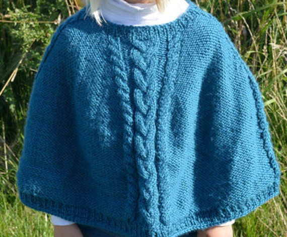 Poncho Pattern Knit In The Round : KNITTING PATTERN PDF Poncho Knit Poncho Knit pattern