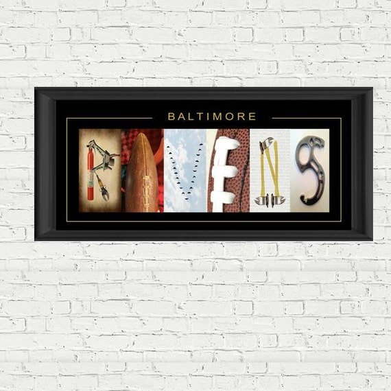 Baltimore ravens firefighters football letter art by for Personalized firefighter letter art