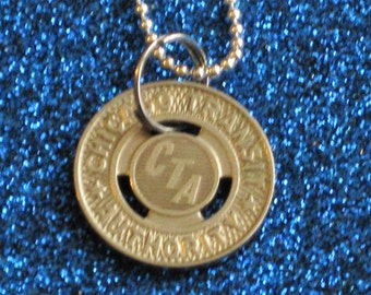 CTA Token - Chicago Subway - Necklace