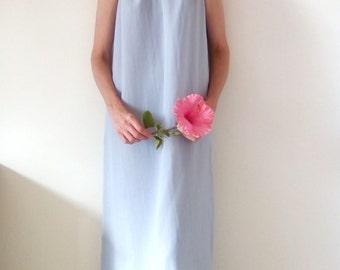 Bridesmaid Dress, Chiffon Dress, Prom Dress, Special Occasion, Lined Dress, Halter neck Dress, Loose fitting Dress, Maxi Dress, Custom made.