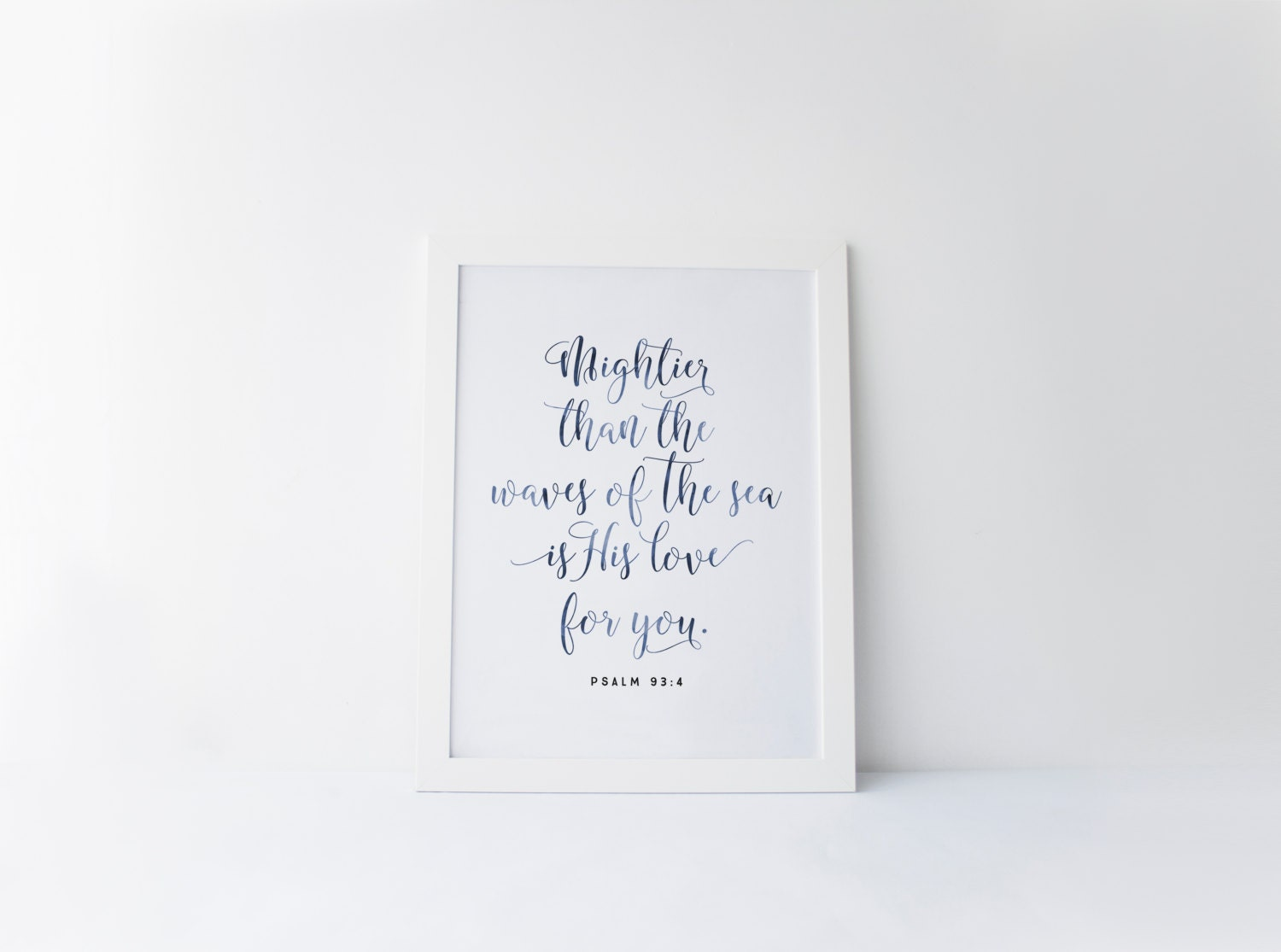 psalm 93 4 printable mightier than the waves print bible