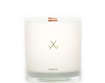 Scented 100% Soy Candle - Guava Fig