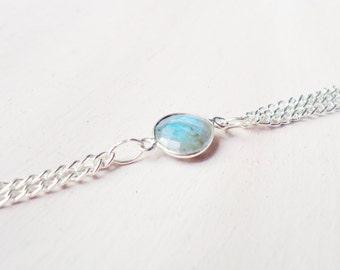 Labradorite Tassel Necklace//Labradorite Pendant Necklace//Labradorite Gemstone Necklace