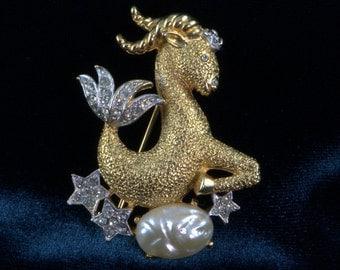 Goat Pin Capricorn Astrological Zodiac Sign