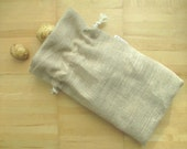 Reusable Natural Burlap Bag with Cotton Rope Drawstring, Reusable Bag, Reusable Burlap Sack, Eco-Friendly Bulk Bag, Zero Waste Bag