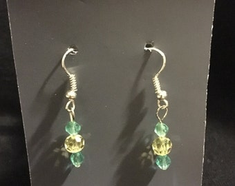 Sparkly Green Earrings.
