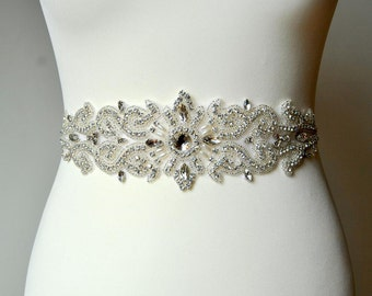 Wedding Bridal Belt Sash Rhinestone Wedding Gown Belt Sash Flower Girl Bridesmaid Gift Sash belt Crystal Dress Sash Belt, Wedding belt sahs